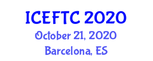 International Conference on Experimental Fiber and Textile Chemistry (ICEFTC) October 21, 2020 - Barcelona, Spain