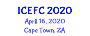 International Conference on Experimental Food Chemistry (ICEFC) April 16, 2020 - Cape Town, South Africa