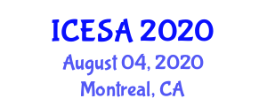 International Conference on Exploration Seismology and Applications (ICESA) August 04, 2020 - Montreal, Canada