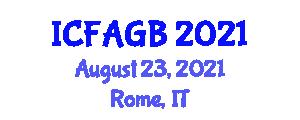 International Conference on Farm Animal Genetics and Breeding (ICFAGB) August 23, 2021 - Rome, Italy