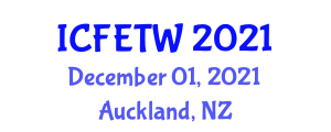 International Conference on Fashion Electronics, Technology and Wearables (ICFETW) December 01, 2021 - Auckland, New Zealand