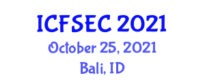 International Conference on Fast Software Encryption and Cryptanalysis (ICFSEC) October 25, 2021 - Bali, Indonesia