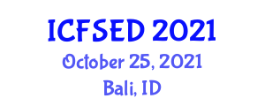 International Conference on Fast Software Encryption and Decryption (ICFSED) October 25, 2021 - Bali, Indonesia
