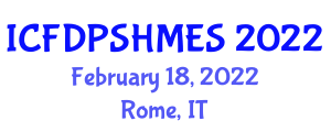 International Conference on Fault Detection, Prognostics and System Health Management for Electromechanical Systems (ICFDPSHMES) February 18, 2022 - Rome, Italy