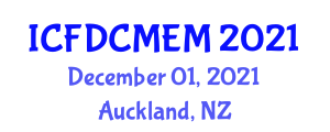 International Conference on Fault Diagnosis and Condition Monitoring in Electrical Machines (ICFDCMEM) December 01, 2021 - Auckland, New Zealand