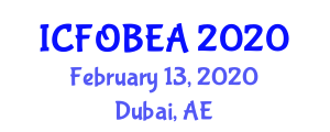 International Conference on Fiber-Optic Biosensors for Engineering Applications (ICFOBEA) February 13, 2020 - Dubai, United Arab Emirates