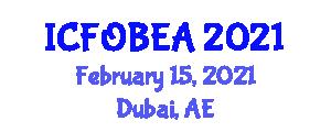 International Conference on Fiber-Optic Biosensors for Engineering Applications (ICFOBEA) February 15, 2021 - Dubai, United Arab Emirates