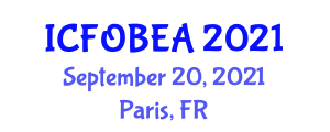 International Conference on Fiber-Optic Biosensors for Engineering Applications (ICFOBEA) September 20, 2021 - Paris, France