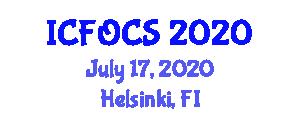 International Conference on Fiber-Optic Communication Systems (ICFOCS) July 17, 2020 - Helsinki, Finland