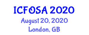 International Conference on Fiber Optic Sensors and their Applications (ICFOSA) August 20, 2020 - London, United Kingdom