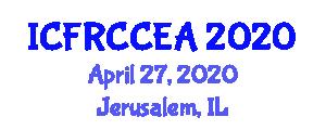 International Conference on Fiber Reinforced Concrete for Civil Engineering Applications (ICFRCCEA) April 27, 2020 - Jerusalem, Israel