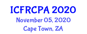 International Conference on Fiber-Reinforced Concrete, Properties and Applications (ICFRCPA) November 05, 2020 - Cape Town, South Africa