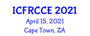 International Conference on Fiber-Reinforced Concretes in Civil Engineering (ICFRCCE) April 15, 2021 - Cape Town, South Africa