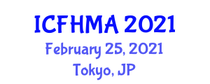 International Conference on Fish Health Management and Applications (ICFHMA) February 25, 2021 - Tokyo, Japan