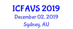 International Conference on Fisheries, Animal and Veterinary Sciences (ICFAVS) December 02, 2019 - Sydney, Australia