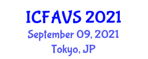 International Conference on Fisheries, Animal and Veterinary Sciences (ICFAVS) September 09, 2021 - Tokyo, Japan