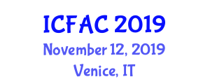 International Conference on Fixed Automation in Construction (ICFAC) November 12, 2019 - Venice, Italy