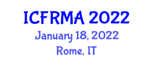 International Conference on Flood Risk Management and Analysis (ICFRMA) January 18, 2022 - Rome, Italy