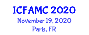 International Conference on Food Additives, Micronutrients and Contamination (ICFAMC) November 19, 2020 - Paris, France