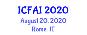 International Conference on Food Allergy and Intolerance (ICFAI) August 20, 2020 - Rome, Italy