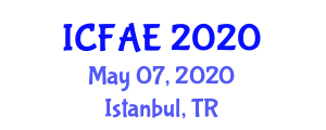 International Conference on Food and Agricultural Engineering (ICFAE) May 07, 2020 - Istanbul, Turkey