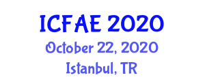 International Conference on Food and Agricultural Engineering (ICFAE) October 22, 2020 - Istanbul, Turkey