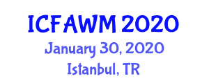 International Conference on Food and Agricultural Waste Management (ICFAWM) January 30, 2020 - Istanbul, Turkey