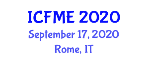 International Conference on Food and Microbial Engineering (ICFME) September 17, 2020 - Rome, Italy