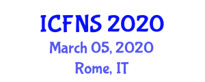 International Conference on Food and Nutrition Security (ICFNS) March 05, 2020 - Rome, Italy