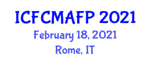 International Conference on Food Contact Materials and Active Food Packaging (ICFCMAFP) February 18, 2021 - Rome, Italy
