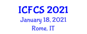 International Conference on Food Contamination and Safety (ICFCS) January 18, 2021 - Rome, Italy