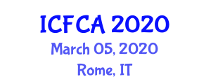 International Conference on Food Control and Applications (ICFCA) March 05, 2020 - Rome, Italy