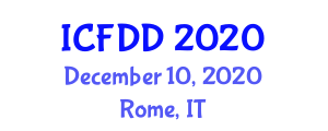 International Conference on Food Design and Development (ICFDD) December 10, 2020 - Rome, Italy
