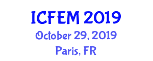 International Conference on Food Engineering and Management (ICFEM) October 29, 2019 - Paris, France