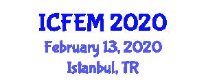 International Conference on Food Engineering and Management (ICFEM) February 13, 2020 - Istanbul, Turkey