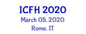 International Conference on Food Hydrocolloids (ICFH) March 05, 2020 - Rome, Italy