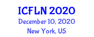 International Conference on Food Labelling and Nutrition (ICFLN) December 10, 2020 - New York, United States
