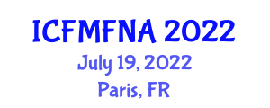 International Conference on Food Microbiology and Food Nanotechnology Applications (ICFMFNA) July 19, 2022 - Paris, France