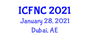 International Conference on Food Nanotechnology and Components (ICFNC) January 28, 2021 - Dubai, United Arab Emirates