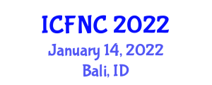 International Conference on Food Nanotechnology and Components (ICFNC) January 14, 2022 - Bali, Indonesia
