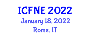 International Conference on Food Nanotechnology and Encapsulation (ICFNE) January 18, 2022 - Rome, Italy