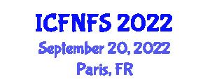 International Conference on Food Nanotechnology and Food Safety (ICFNFS) September 20, 2022 - Paris, France