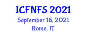 International Conference on Food Nanotechnology and Food Security (ICFNFS) September 16, 2021 - Rome, Italy