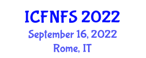 International Conference on Food Nanotechnology and Food Security (ICFNFS) September 16, 2022 - Rome, Italy