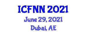 International Conference on Food Nanotechnology and Nutrition (ICFNN) June 29, 2021 - Dubai, United Arab Emirates