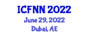 International Conference on Food Nanotechnology and Nutrition (ICFNN) June 29, 2022 - Dubai, United Arab Emirates