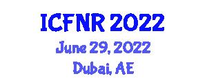 International Conference on Food Nanotechnology and Research (ICFNR) June 29, 2022 - Dubai, United Arab Emirates