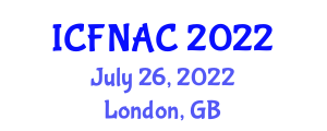 International Conference on Food Nanotechnology Applications and Chemistry (ICFNAC) July 26, 2022 - London, United Kingdom