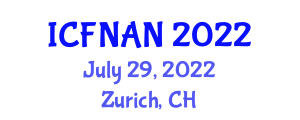 International Conference on Food Nanotechnology Applications and Nutrition (ICFNAN) July 29, 2022 - Zurich, Switzerland