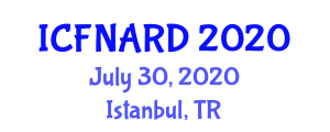 International Conference on Food Nanotechnology Applications and Research Directions (ICFNARD) July 30, 2020 - Istanbul, Turkey